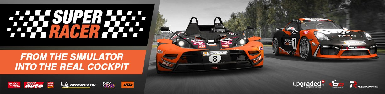 RaceRoom Super Racer competition banner