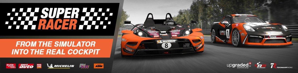 RaceRoom Super Racer competition banner