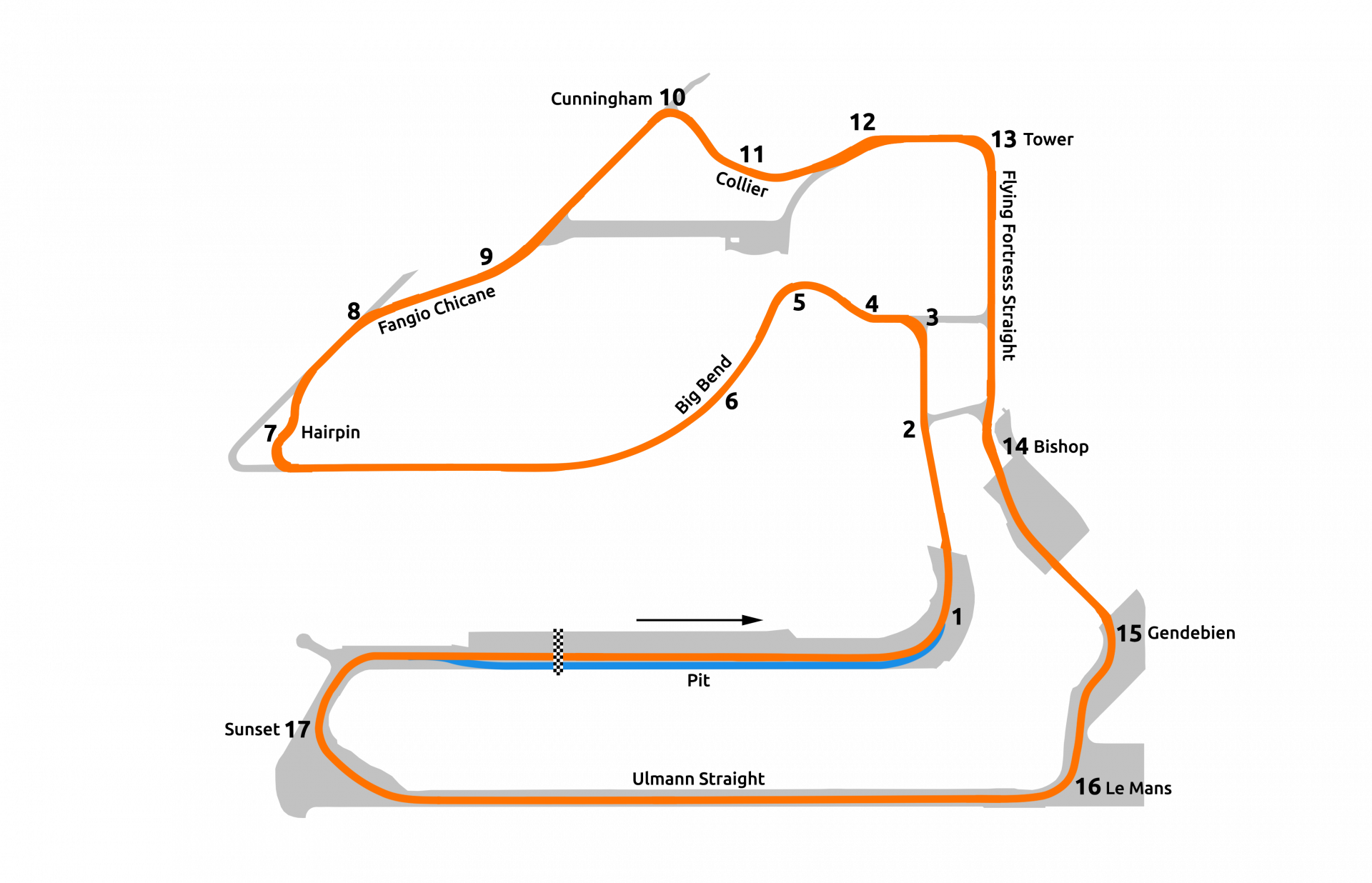 rFactor 2 July roadmap Sebring 12-hour layout