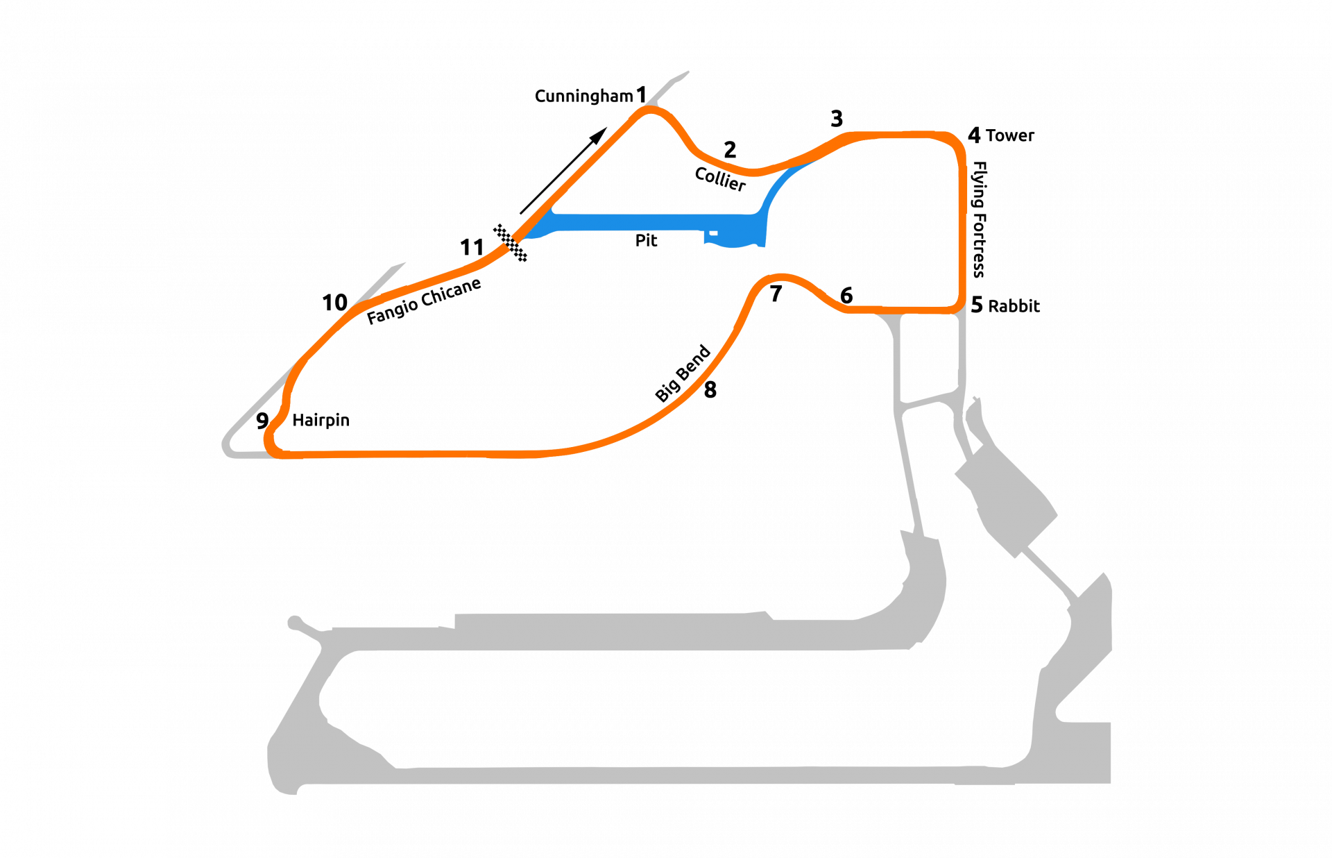 rFactor 2 July roadmap Sebring Johnson Clube layout