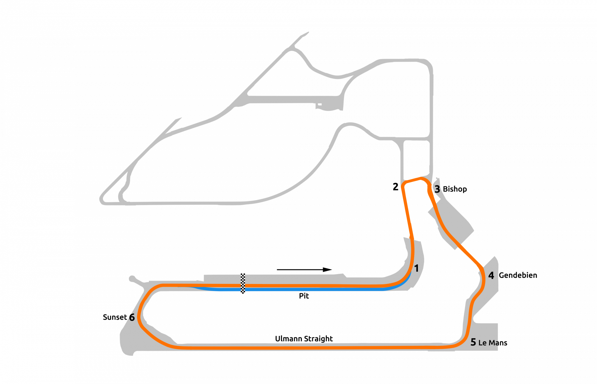 rFactor 2 July roadmap Sebring School Layout