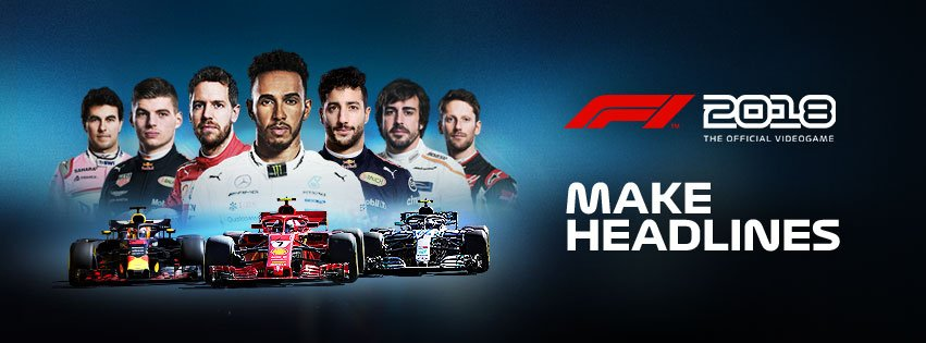 F1 2018 release banner