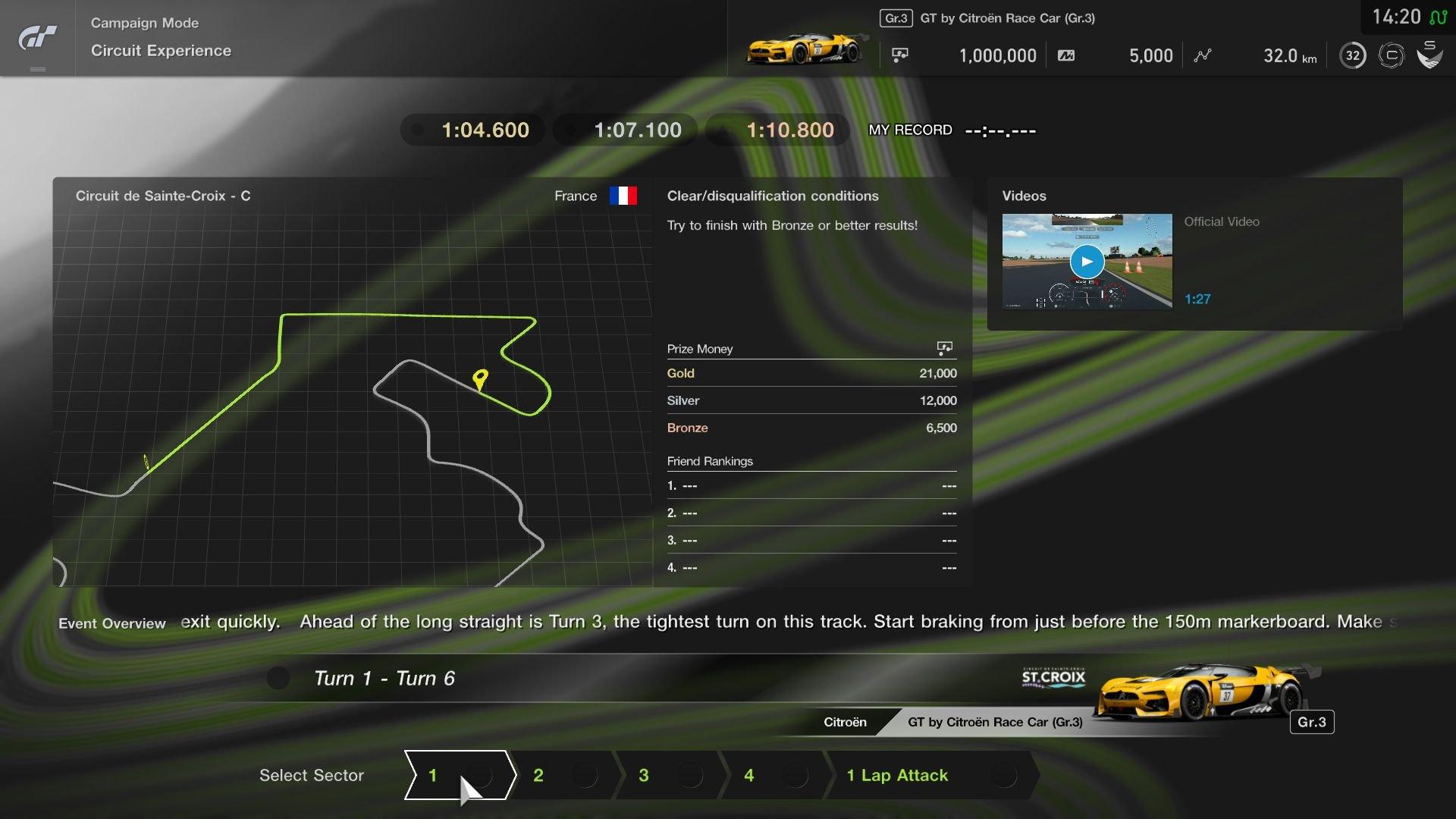 Gran Turismo Sport August Update Circuit Experience Circuit de Sainte-Croix C