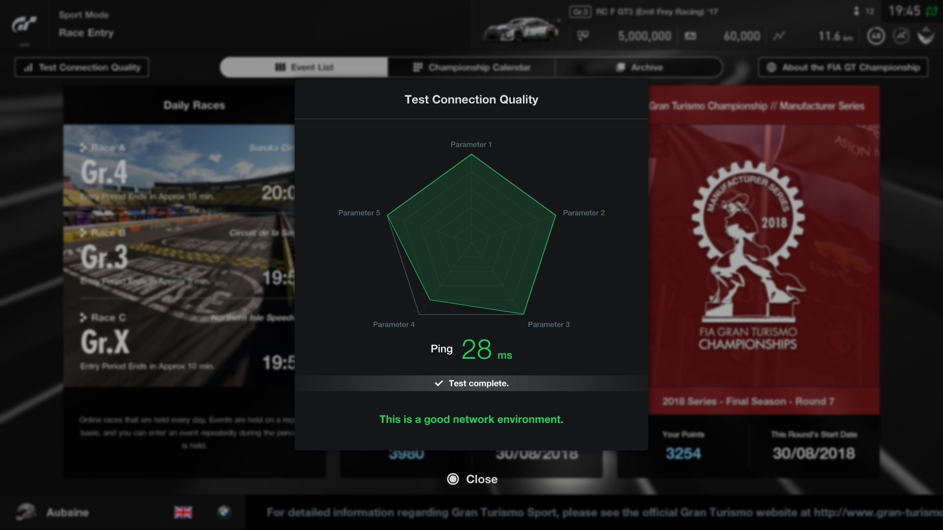 Gran Turismo Sport August Update Sport Mode internet speed