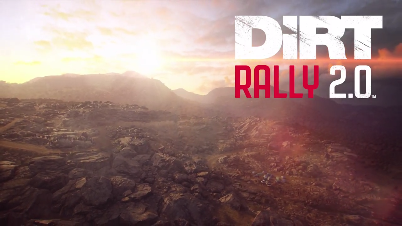 DiRT Rally 2.0 landscape with logo