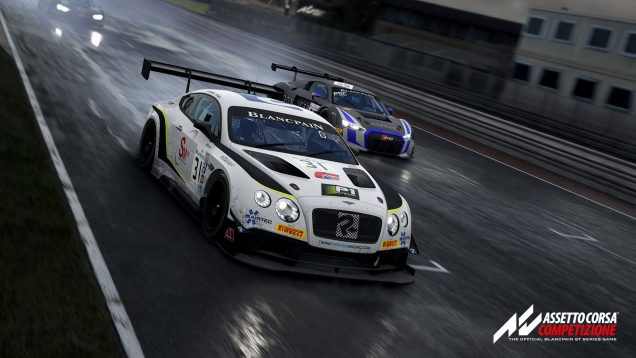Assetto Corsa Competizione Bentley Continental GT3 and Audi R8 GT3