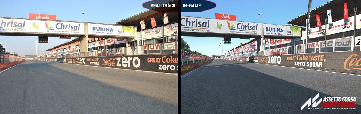 Assetto Corsa Competizione Zolder real vs virtual 1