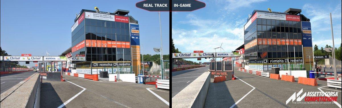 Assetto Corsa Competizione Zolder real vs virtual 2